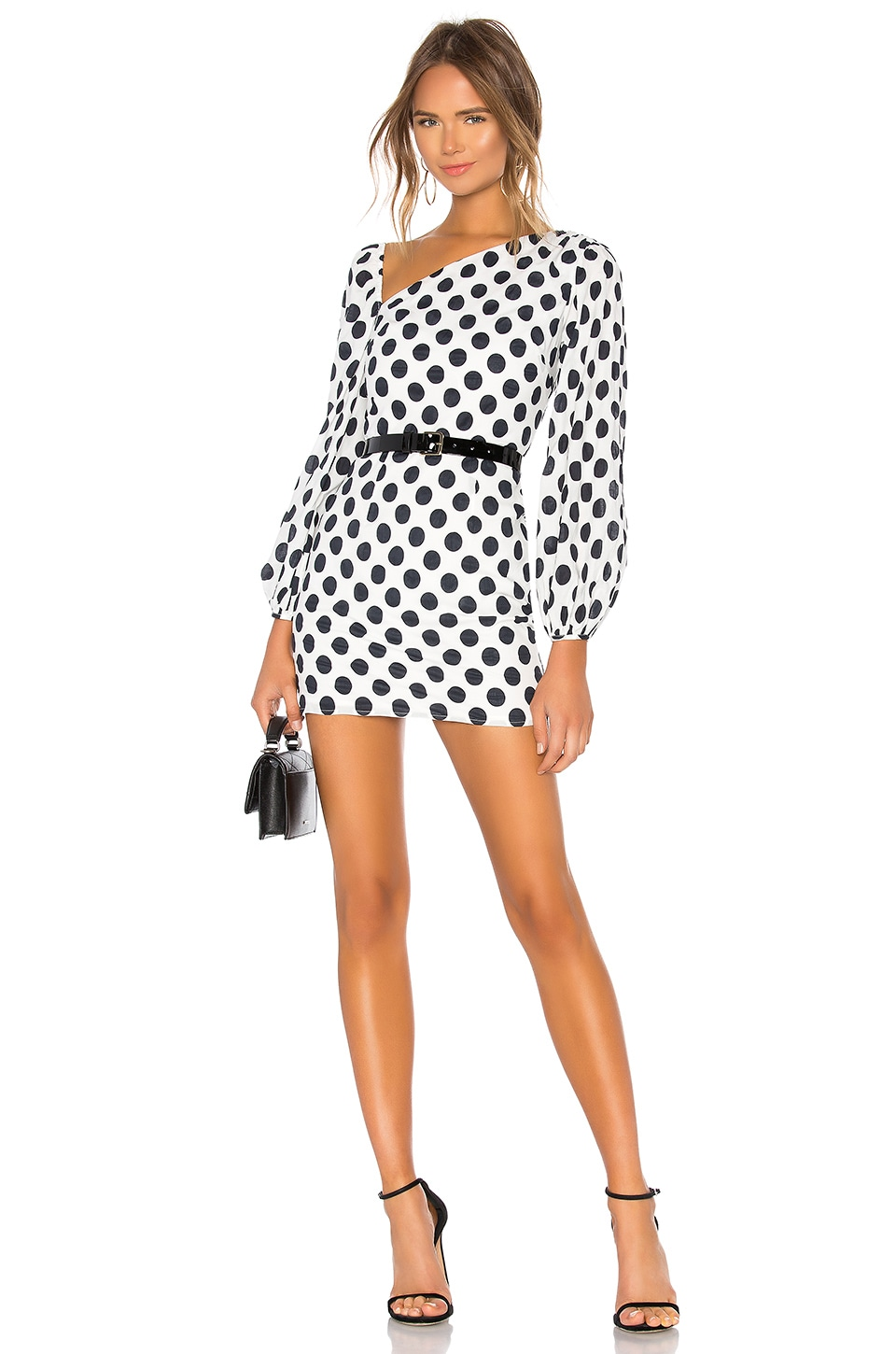 Lovers + Friends Andy Mini Dress in Black & White