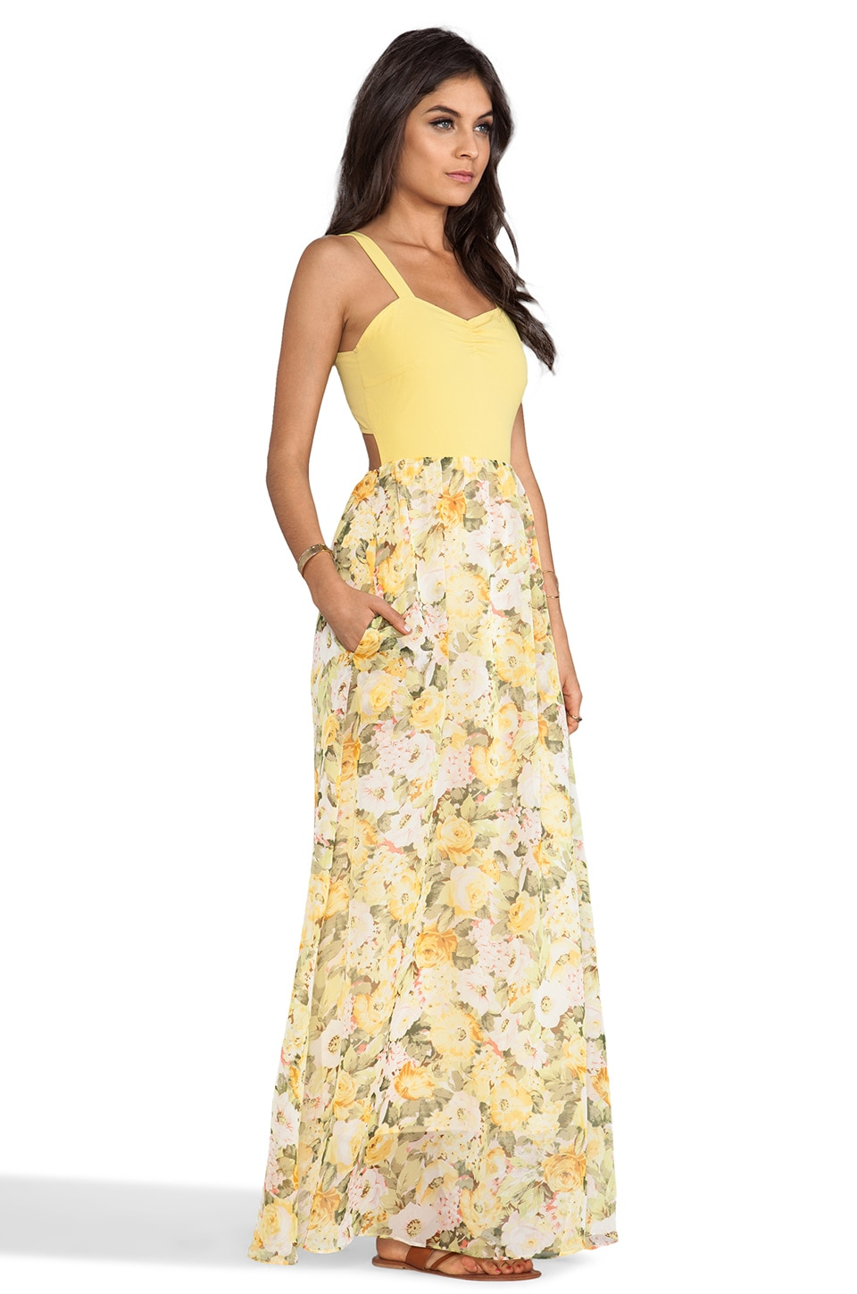 Lovers + Friends Crazy Love Maxi Dress in Floral