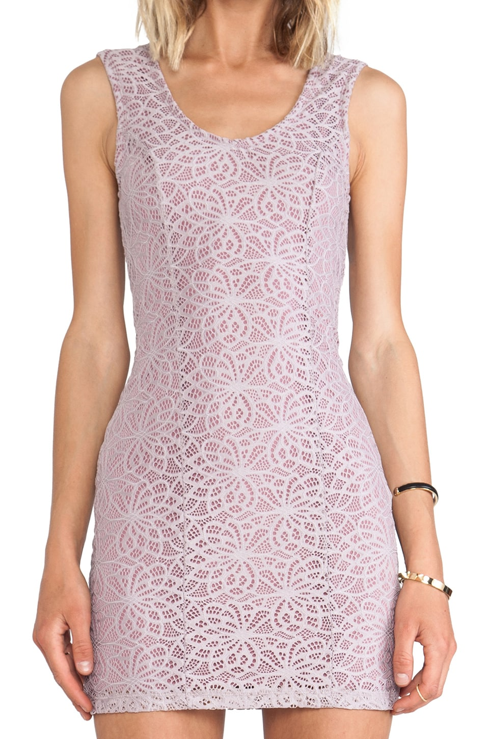 Lovers + Friends Au Natural Dress in Lavender Lace