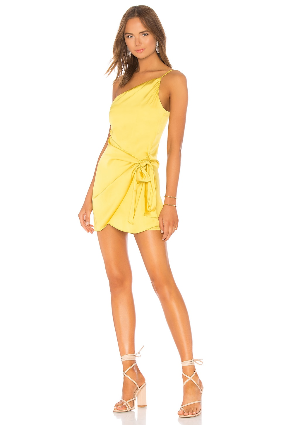 Lovers + Friends Karen Mini Dress in Chartreuse Green