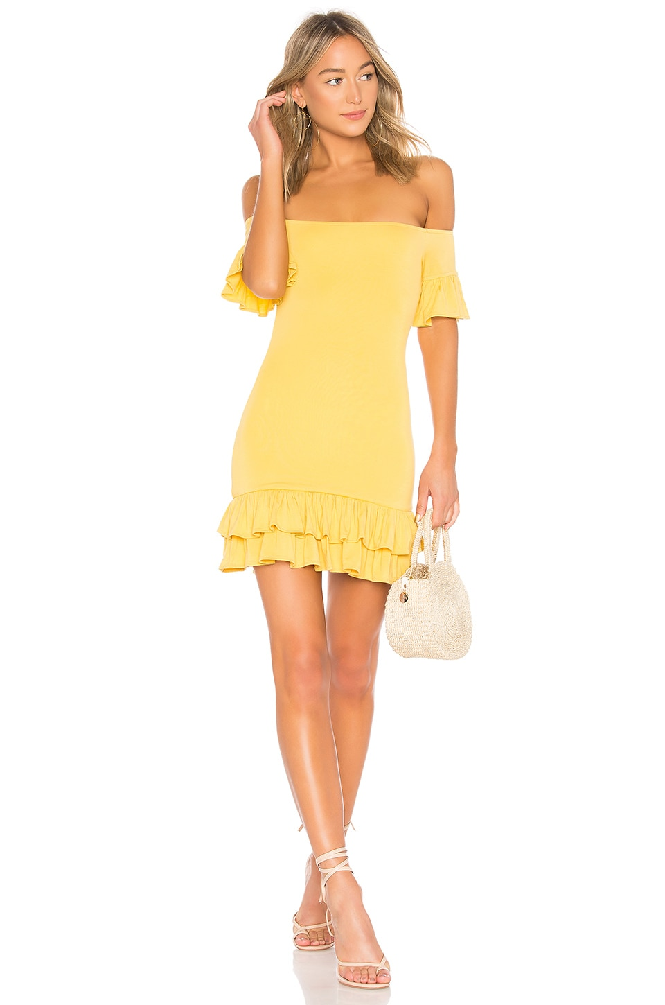 Lovers + Friends Tiger Lily Mini Dress in Blossom Yellow