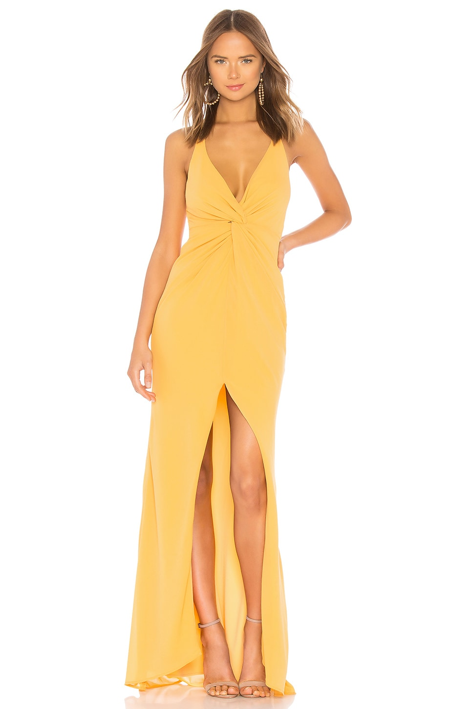Lovers + Friends Xael Gown in Golden Rod