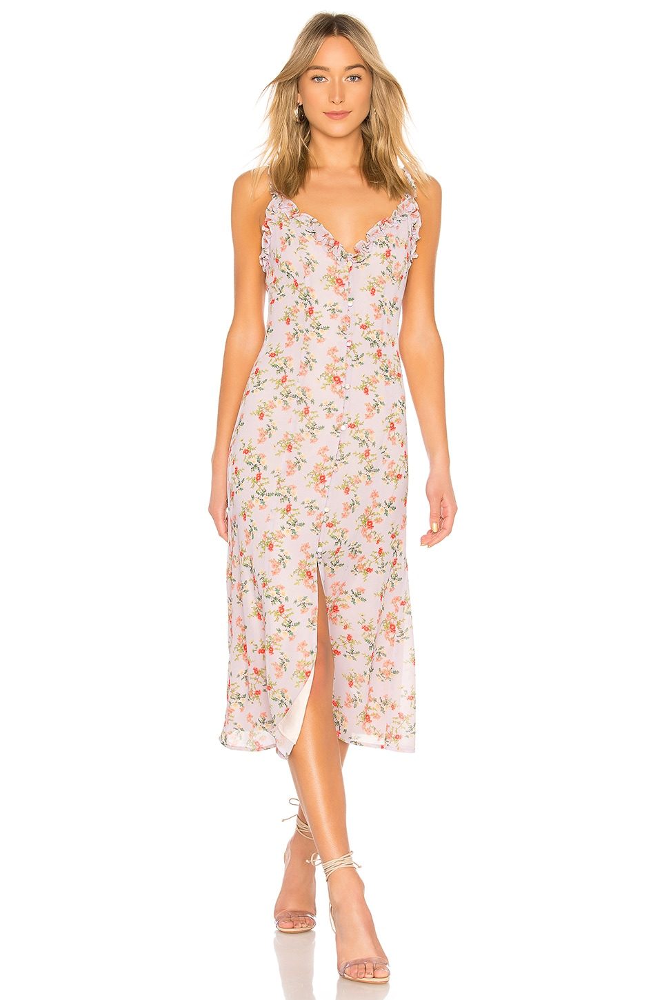 Lovers + Friends Sun Room Midi in Lilac Floral