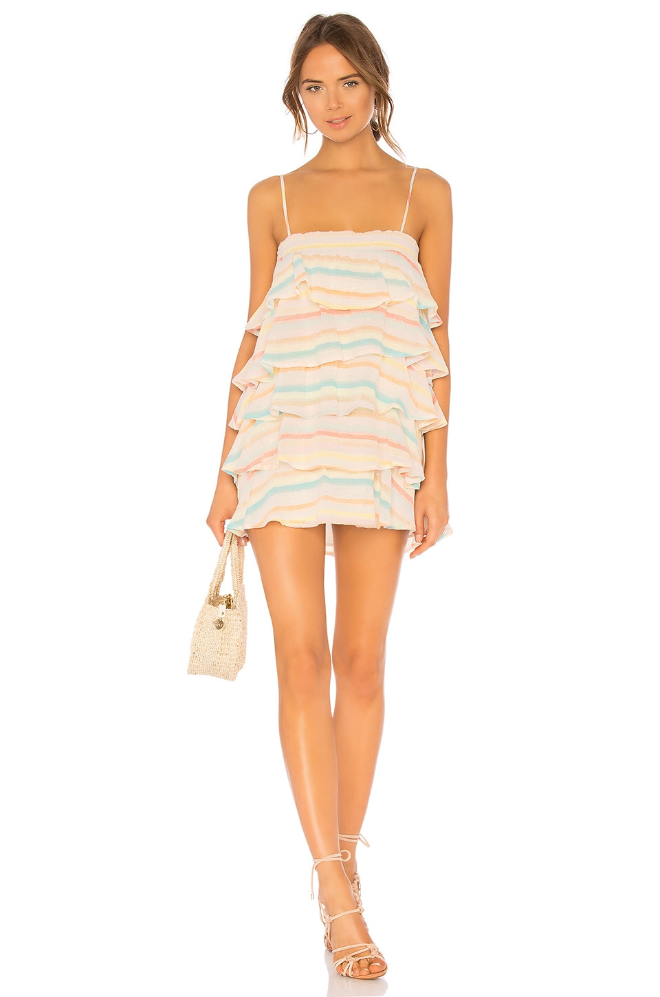 Lovers + Friends Liv Dress in Spring Rainbow