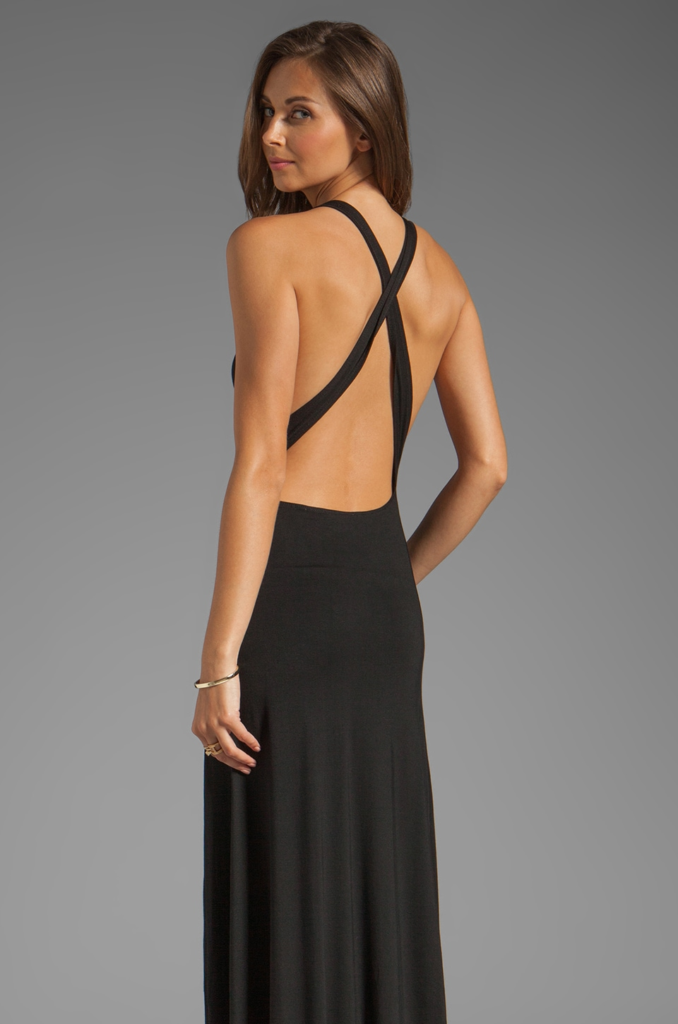 Lovers + Friends Feeling Fine Maxi Tank Dress in Black