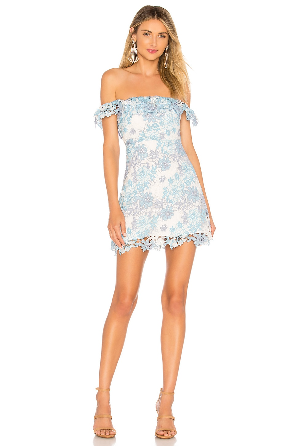 Lovers + Friends Lilo Mini Dress in Blue Multi