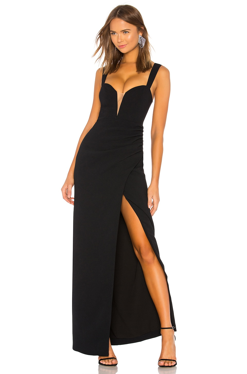 Lovers + Friends Dolores Gown in Black