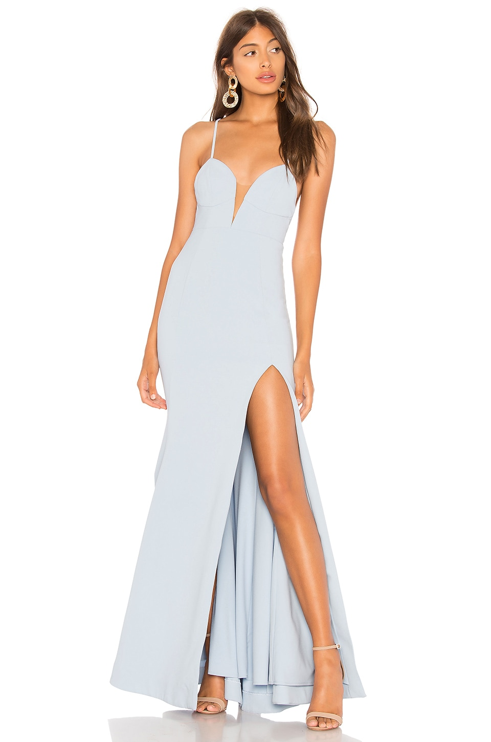Lovers + Friends Yashvi Gown in Baby Blue