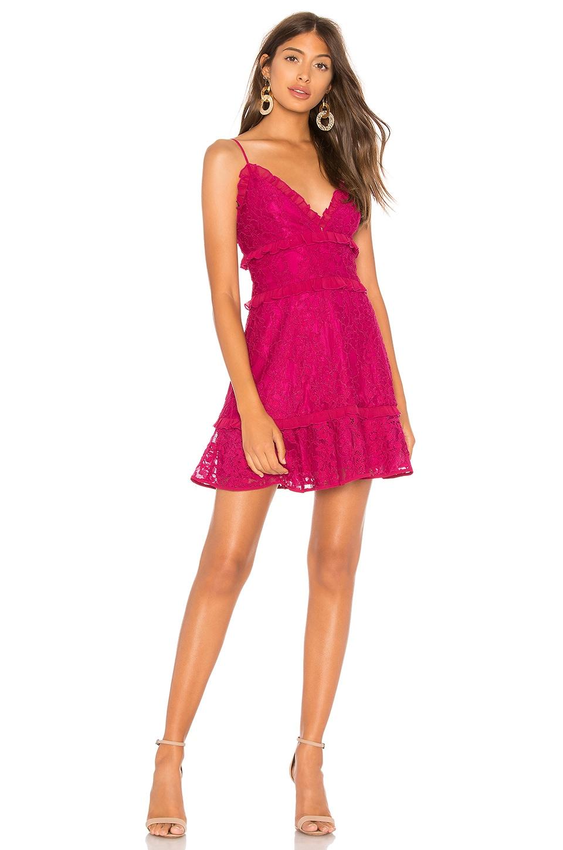 Lovers + Friends Sofia Mini Dress in Berry