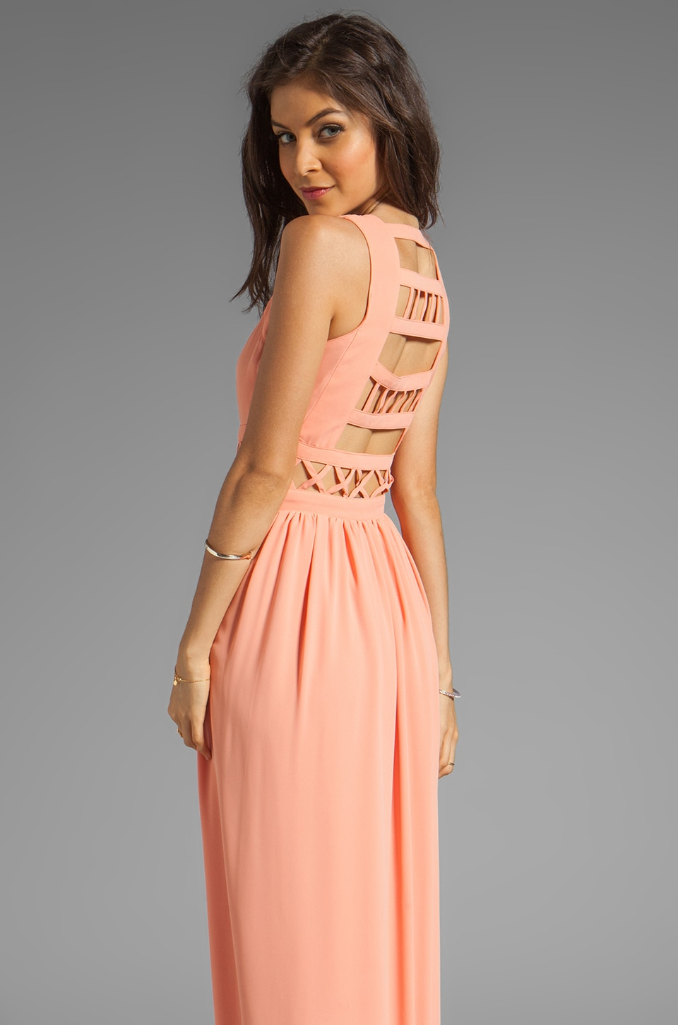 Lovers + Friends Calling You Maxi Dress in Coral