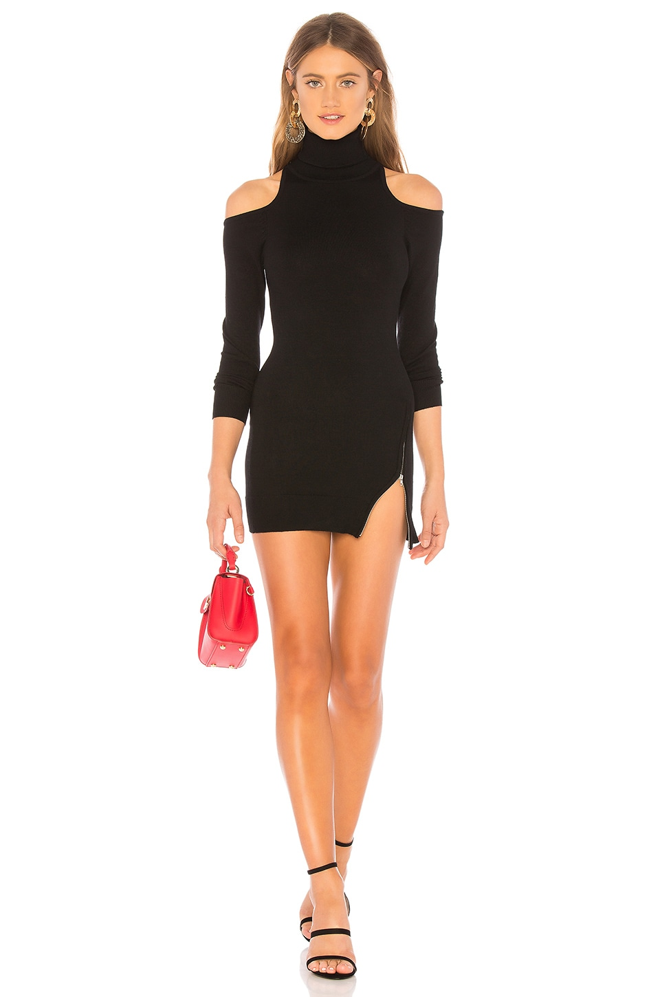 Zipper Sweater Dress