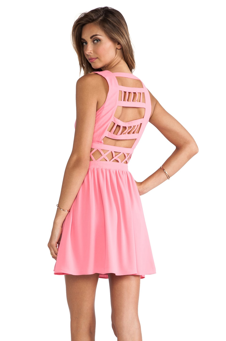 Lovers + Friends Destiny Dress in Pink