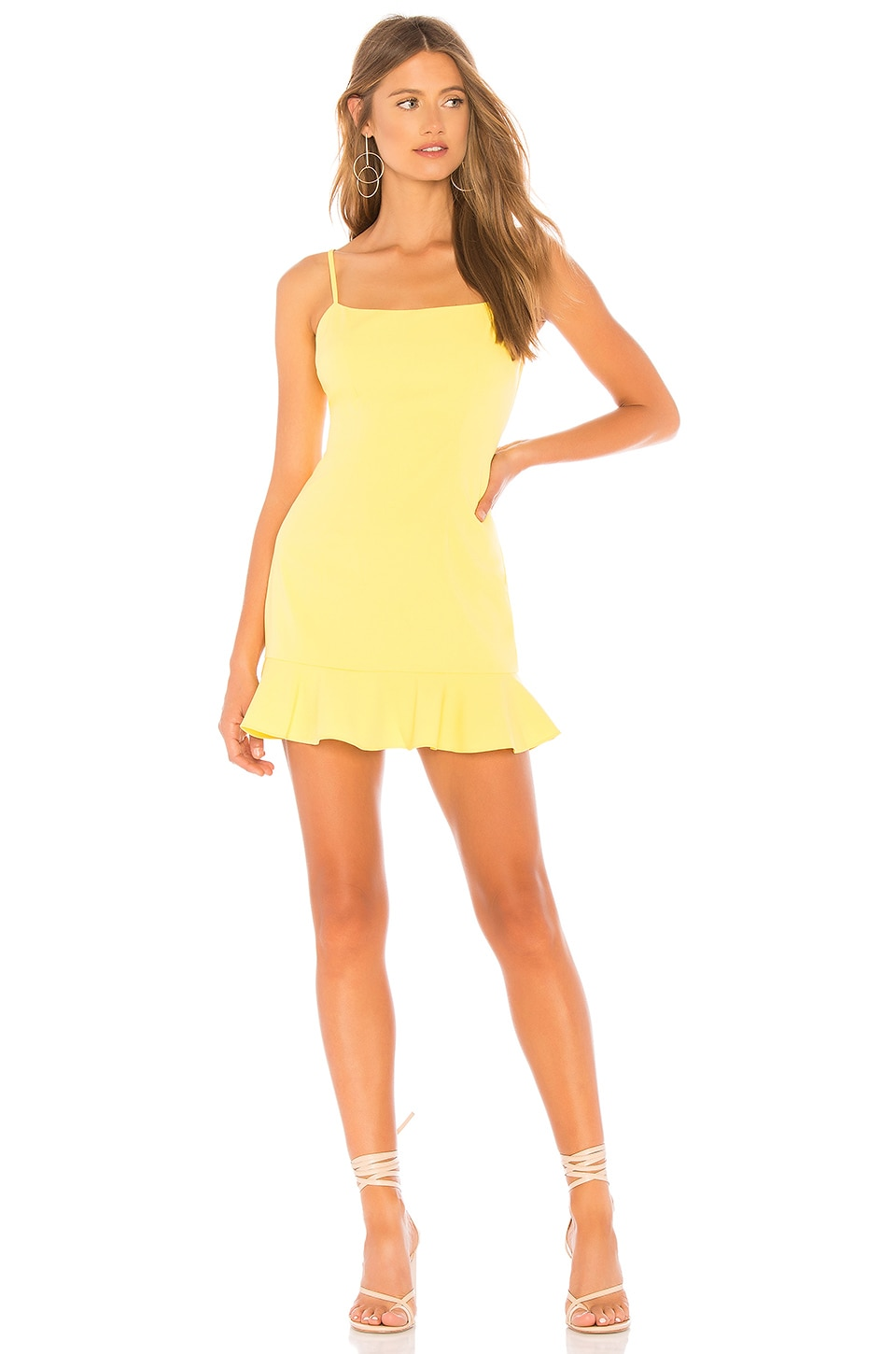 Lovers + Friends MINIVESTIDO BODY TEDDY