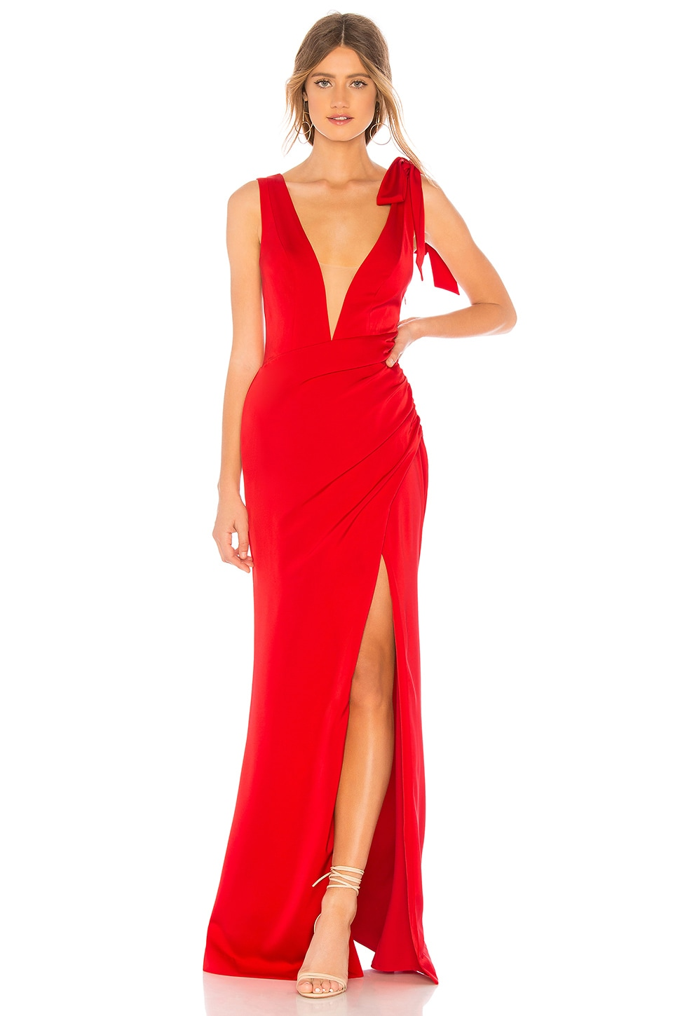 Lovers + Friends Patrick Gown in Red