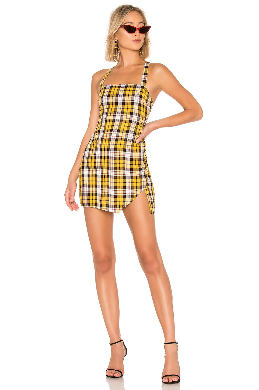 Lovers + Friends Ellie Mini Dress in Yellow Plaid