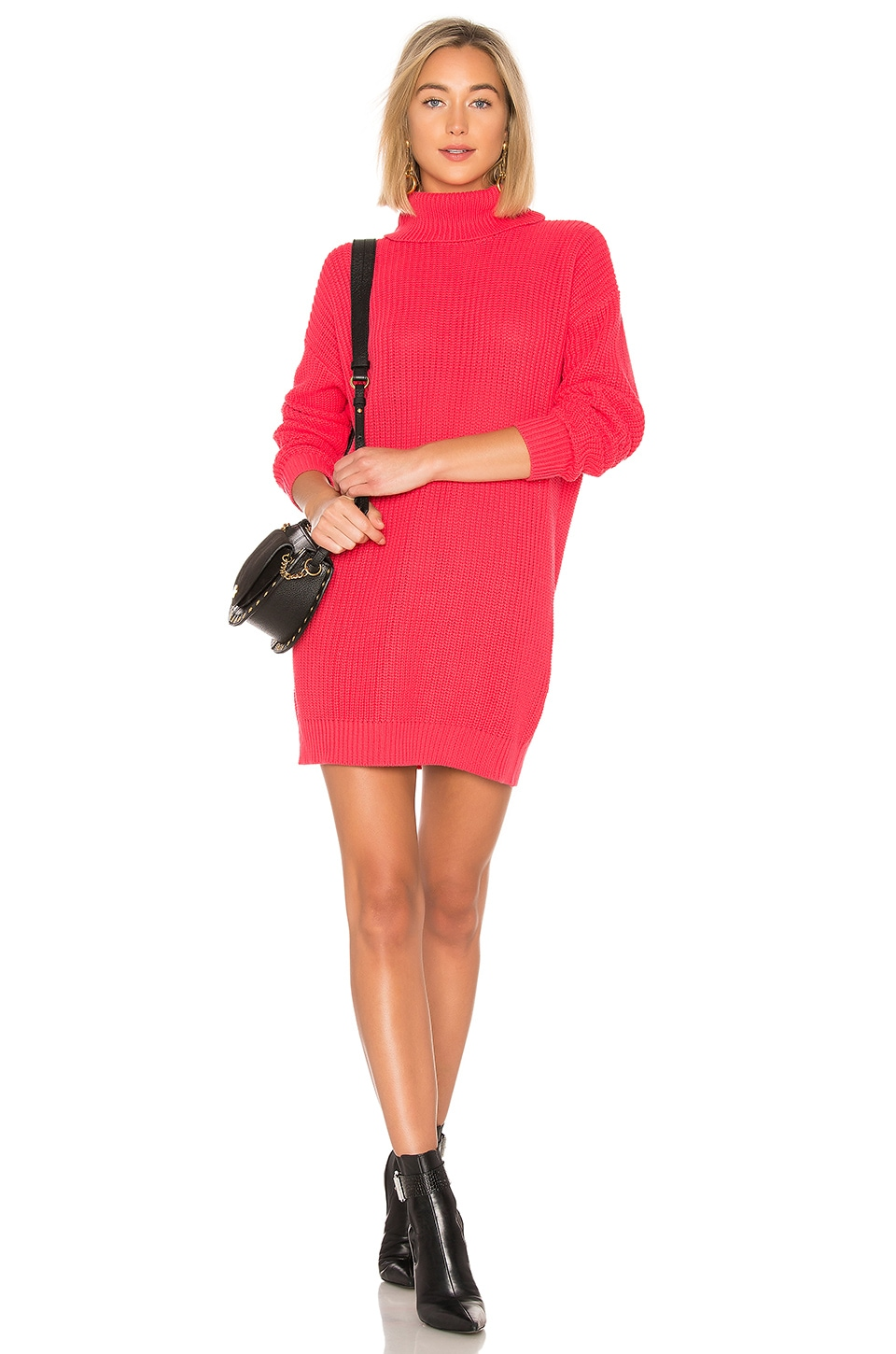 Lovers + Friends Christina Sweater Dress in Magenta