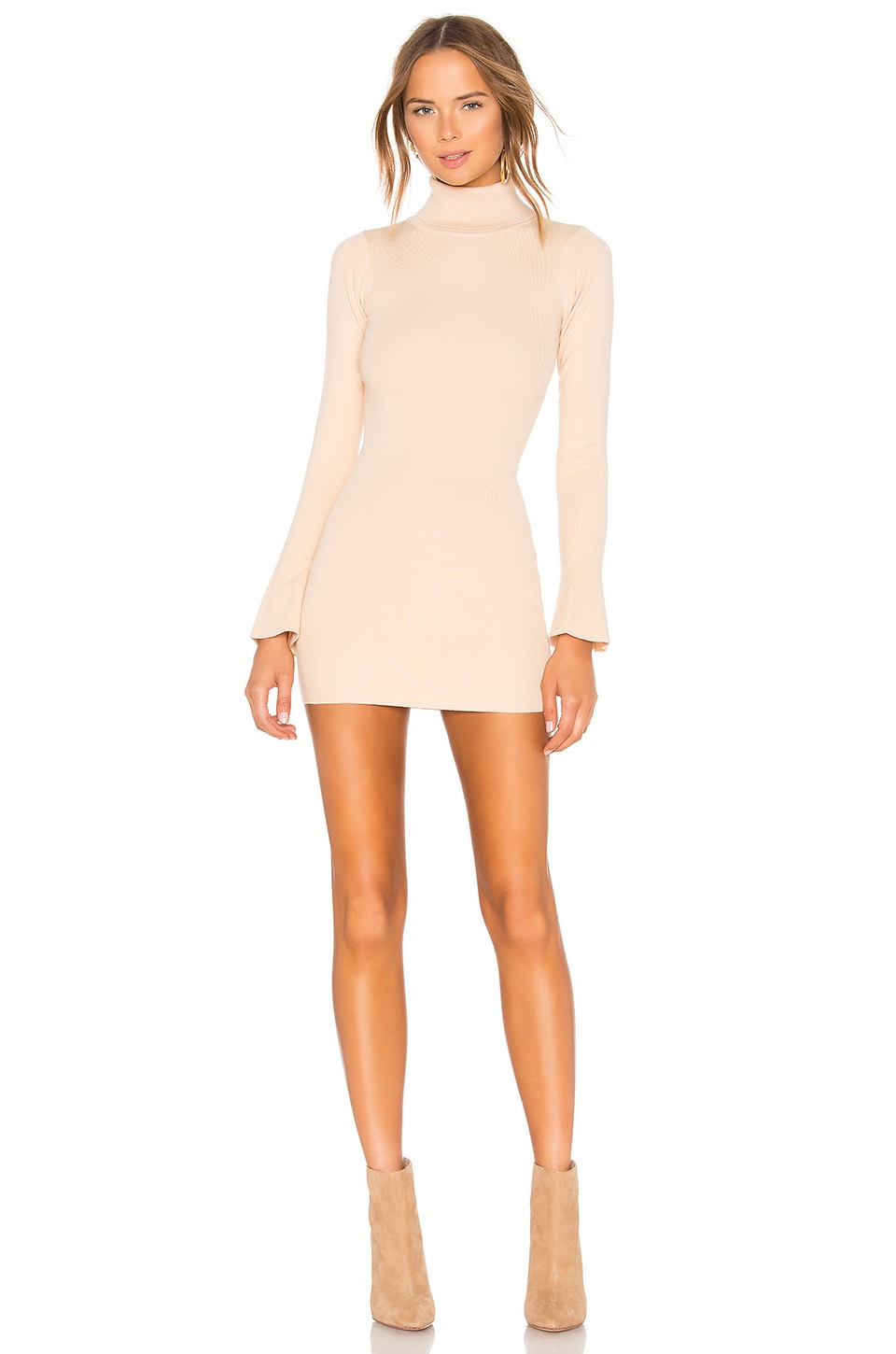 Lovers + Friends Unstoppable Dress in Beige