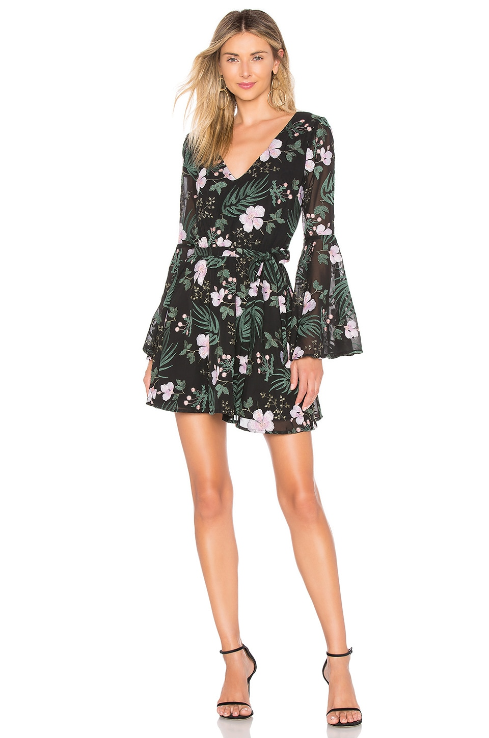 Lovers + Friends ROBE MANCHES LONGUES LILA