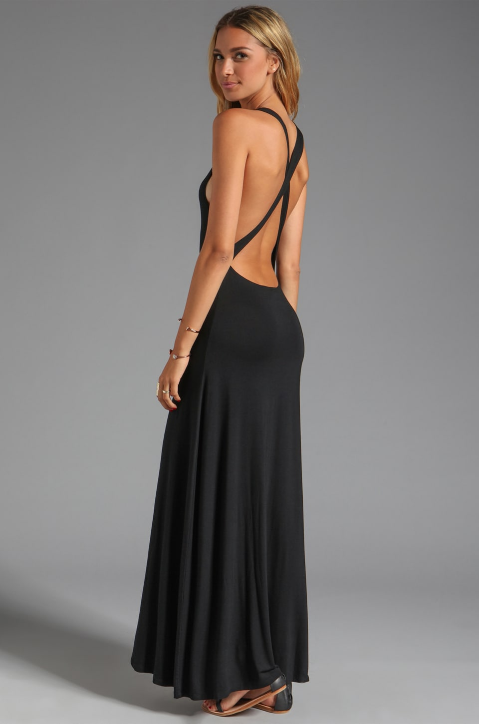 Lovers + Friends Feeling Fine Maxi Dress in Black