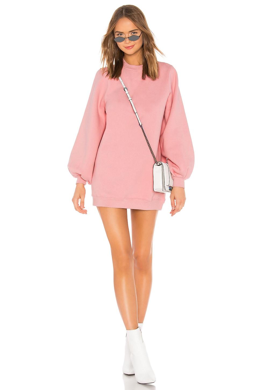 Lovers + Friends Jessa Sweatshirt Dress in Dusty Pink