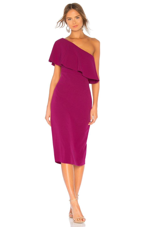 Lovers + Friends Bentley Midi Dress in Grape