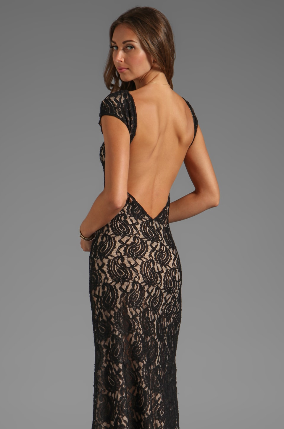 Lovers + Friends Vanity Fair Dress in Black Lace