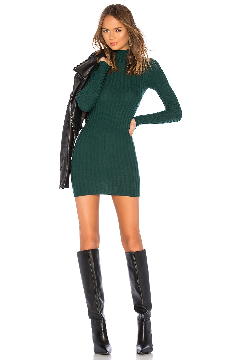 Lovers + Friends Be Fierce Dress in Forest Green