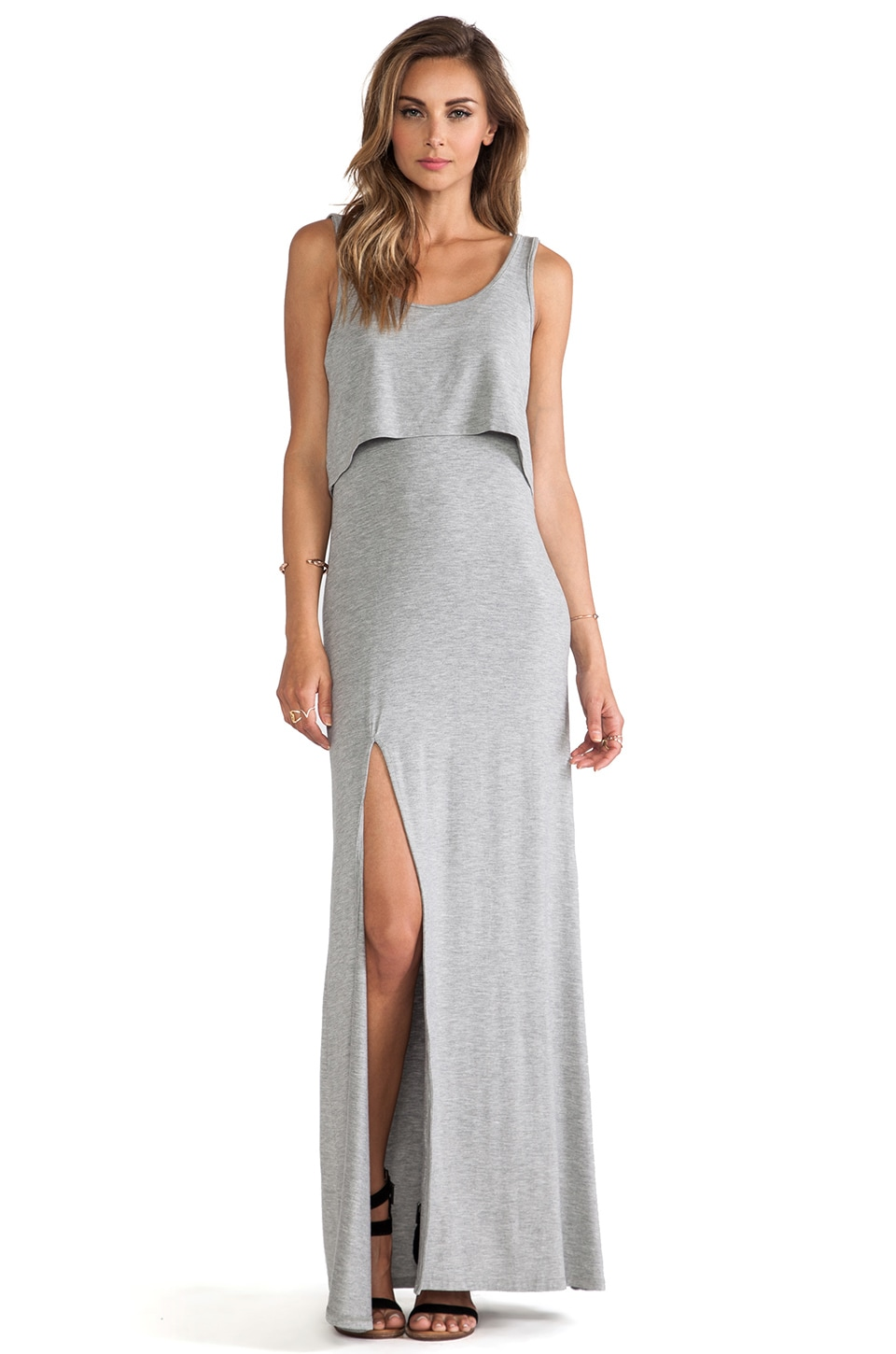 Lovers + Friends Hello Goodbye Maxi Dress in Heather Grey