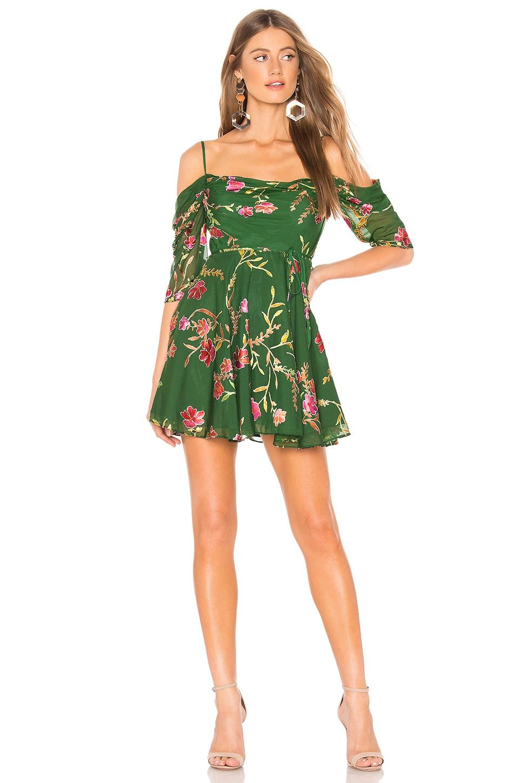 Lovers + Friends Cindy Mini in Jade Floral