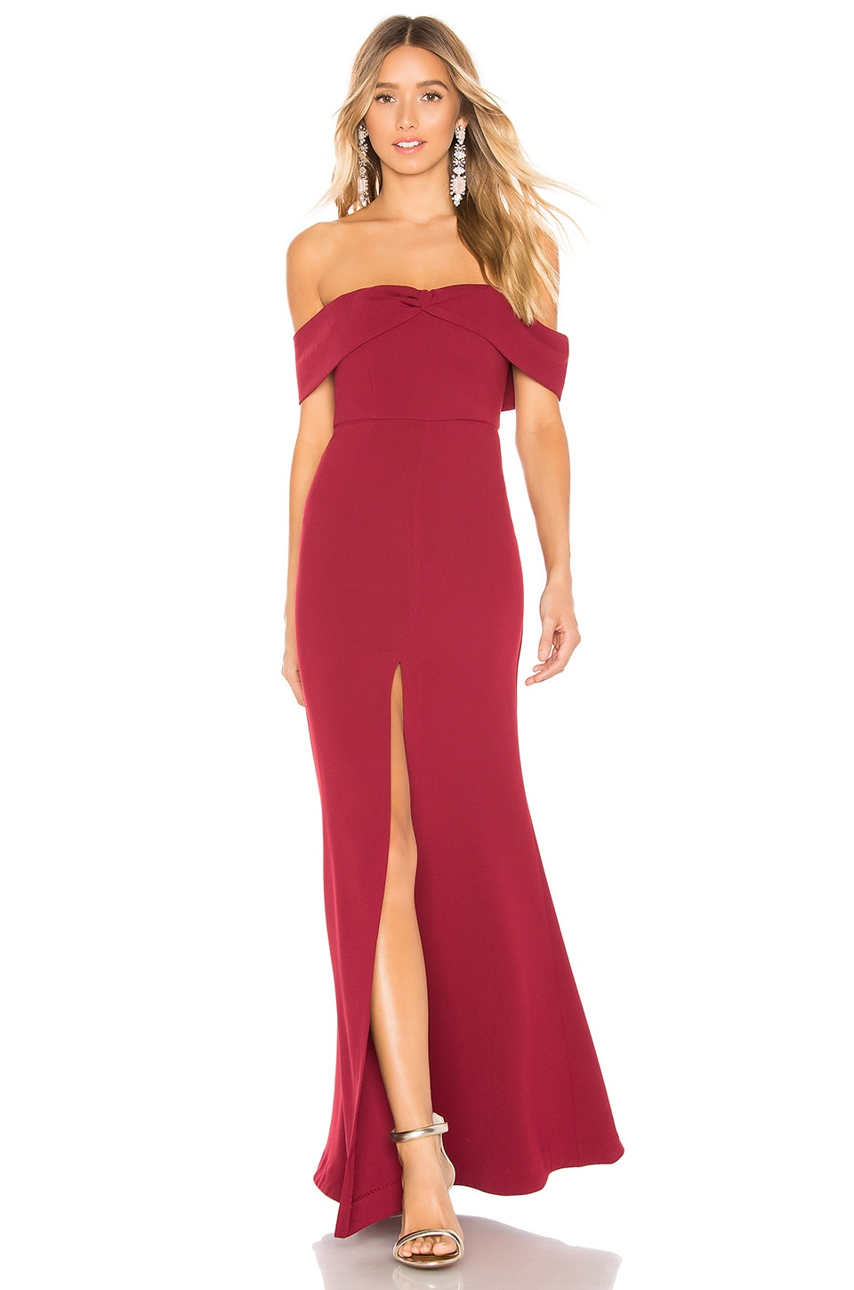 Lovers + Friends Danica Gown in Ruby