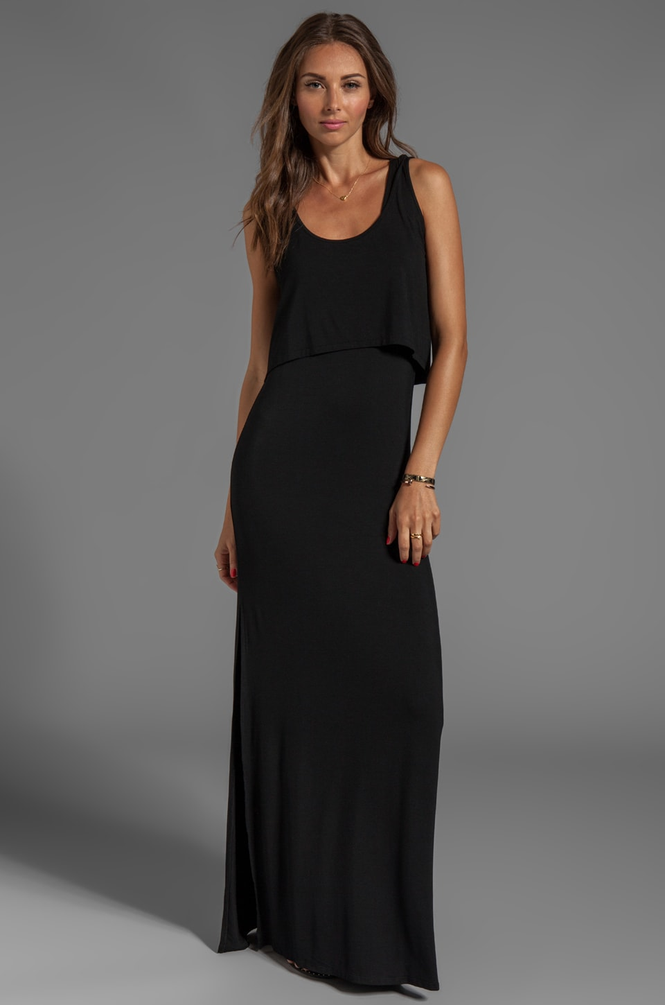 Lovers + Friends Hello Goodbye Maxi Dress in Black