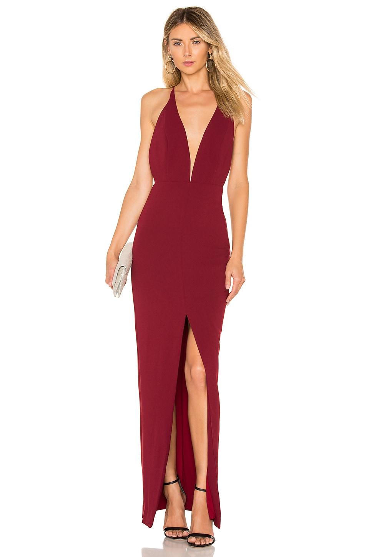 Lovers + Friends Pinot Noir Gown in Ruby