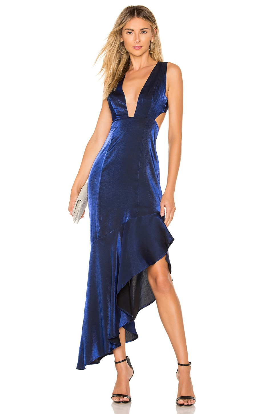 Lovers + Friends Andressa Gown in Sapphire Blue