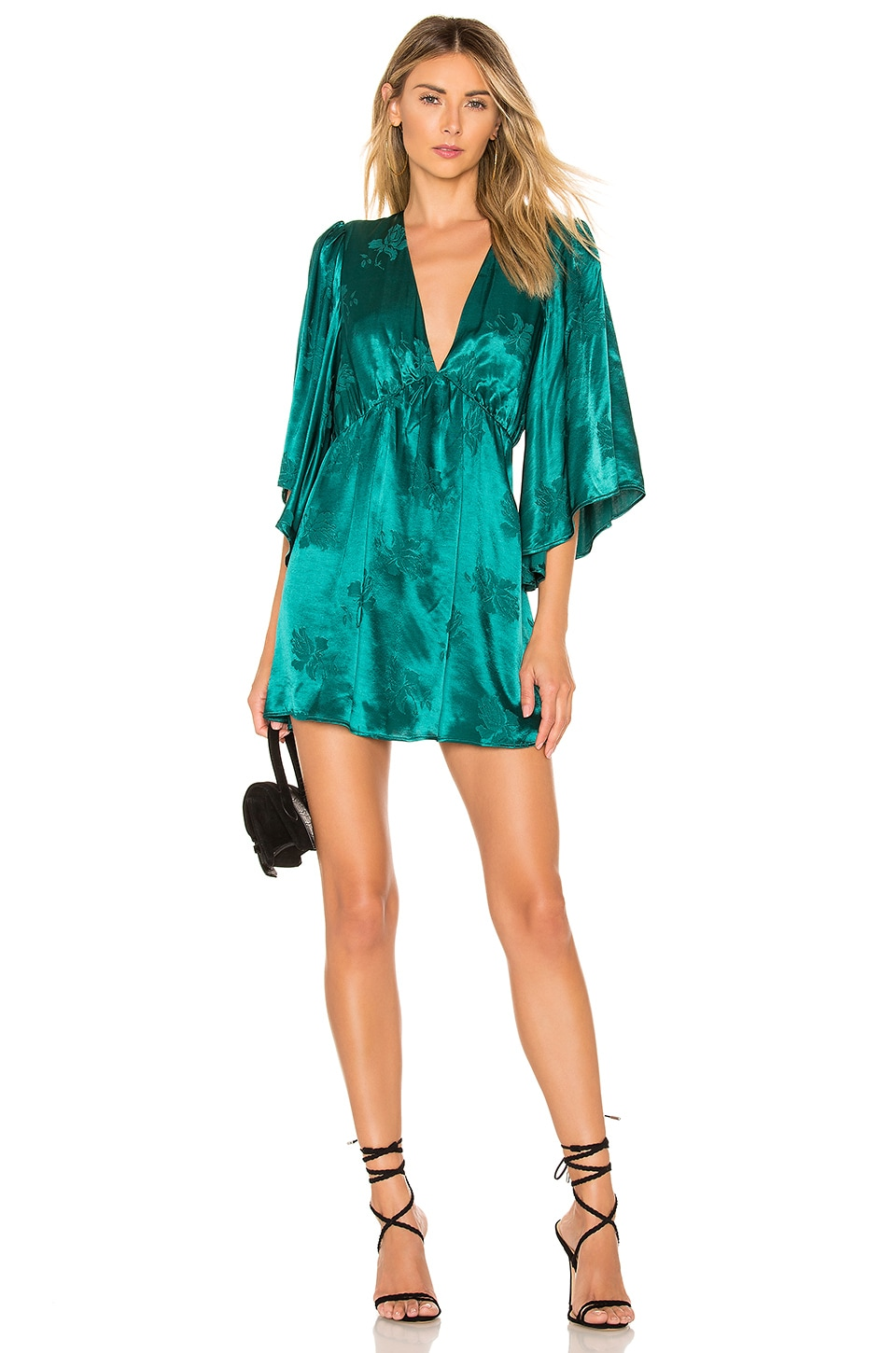 Lovers + Friends Jimmy Mini Dress in Turquoise