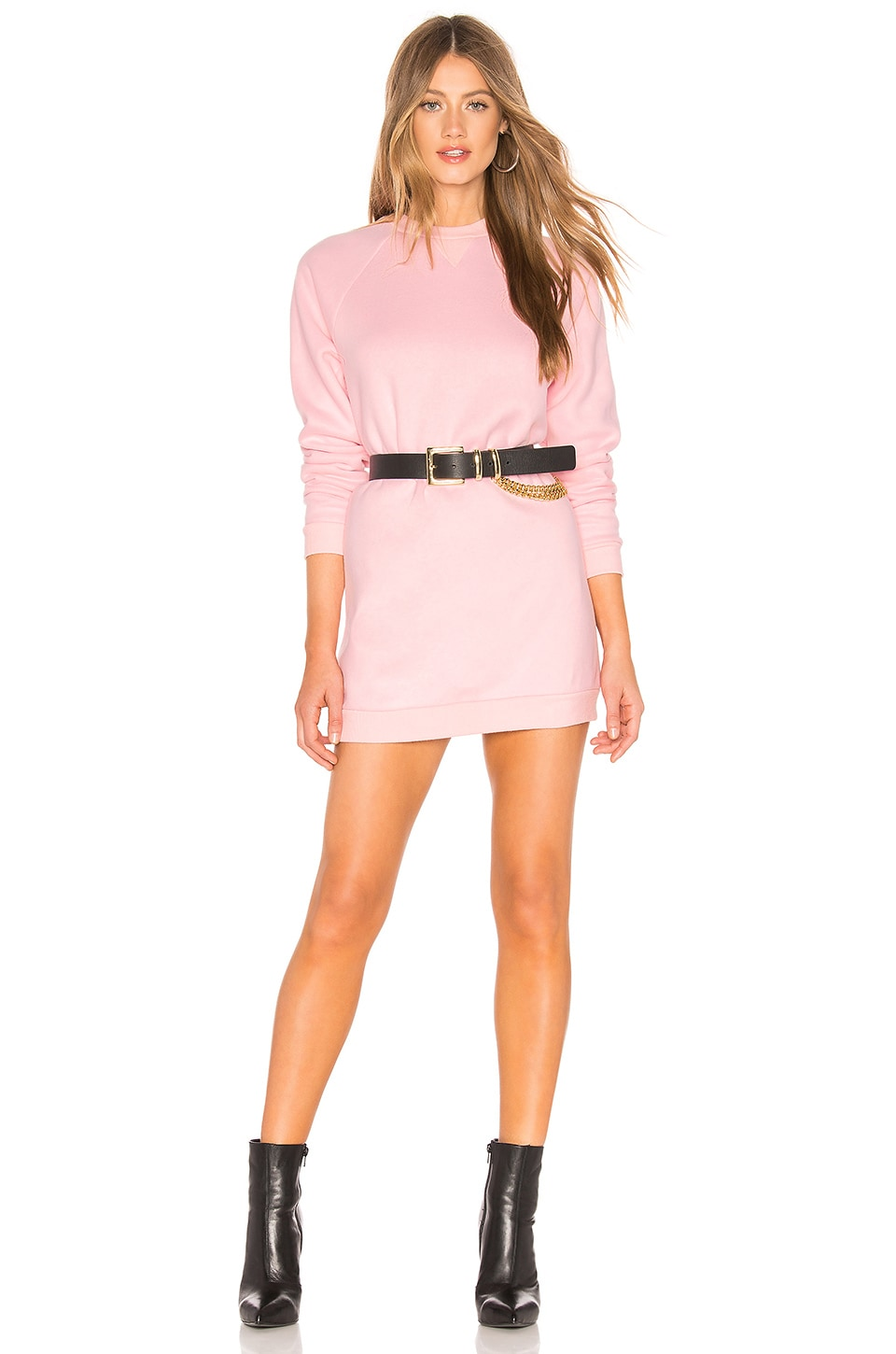 Lovers + Friends Charlie Sweatshirt Dress in Light Pink
