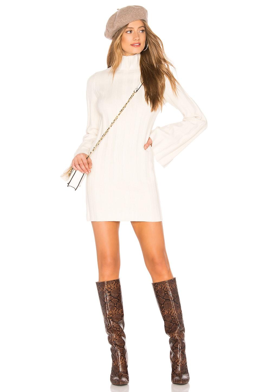Lovers + Friends Taytay Sweater Dress in Ivory