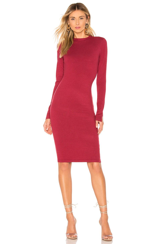 Lovers + Friends Vik Dress in Dark Red