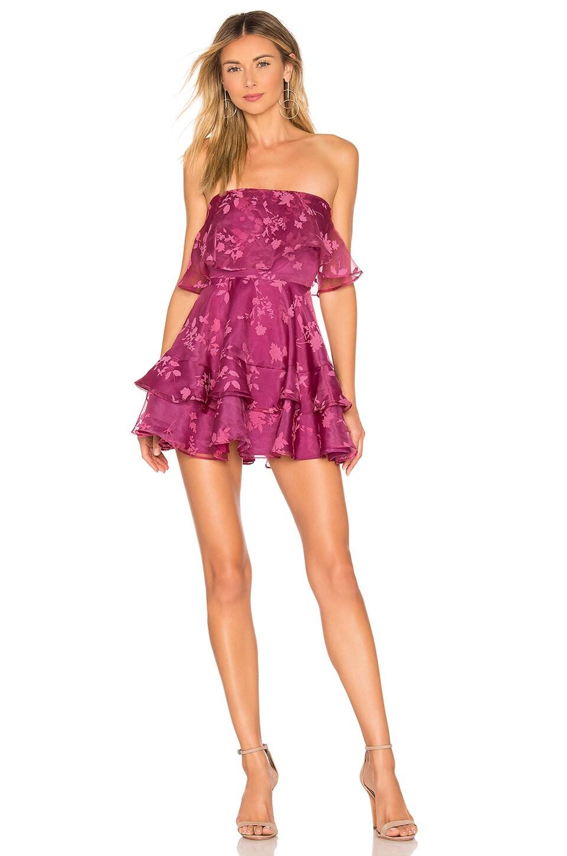 Lovers + Friends Bexley Mini Dress in Magenta
