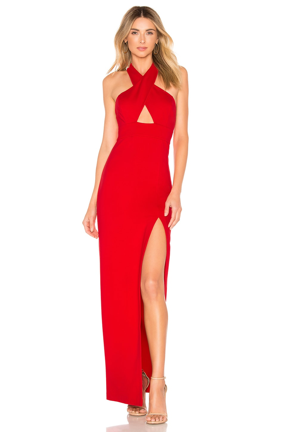 Lovers + Friends Livia Gown in Red