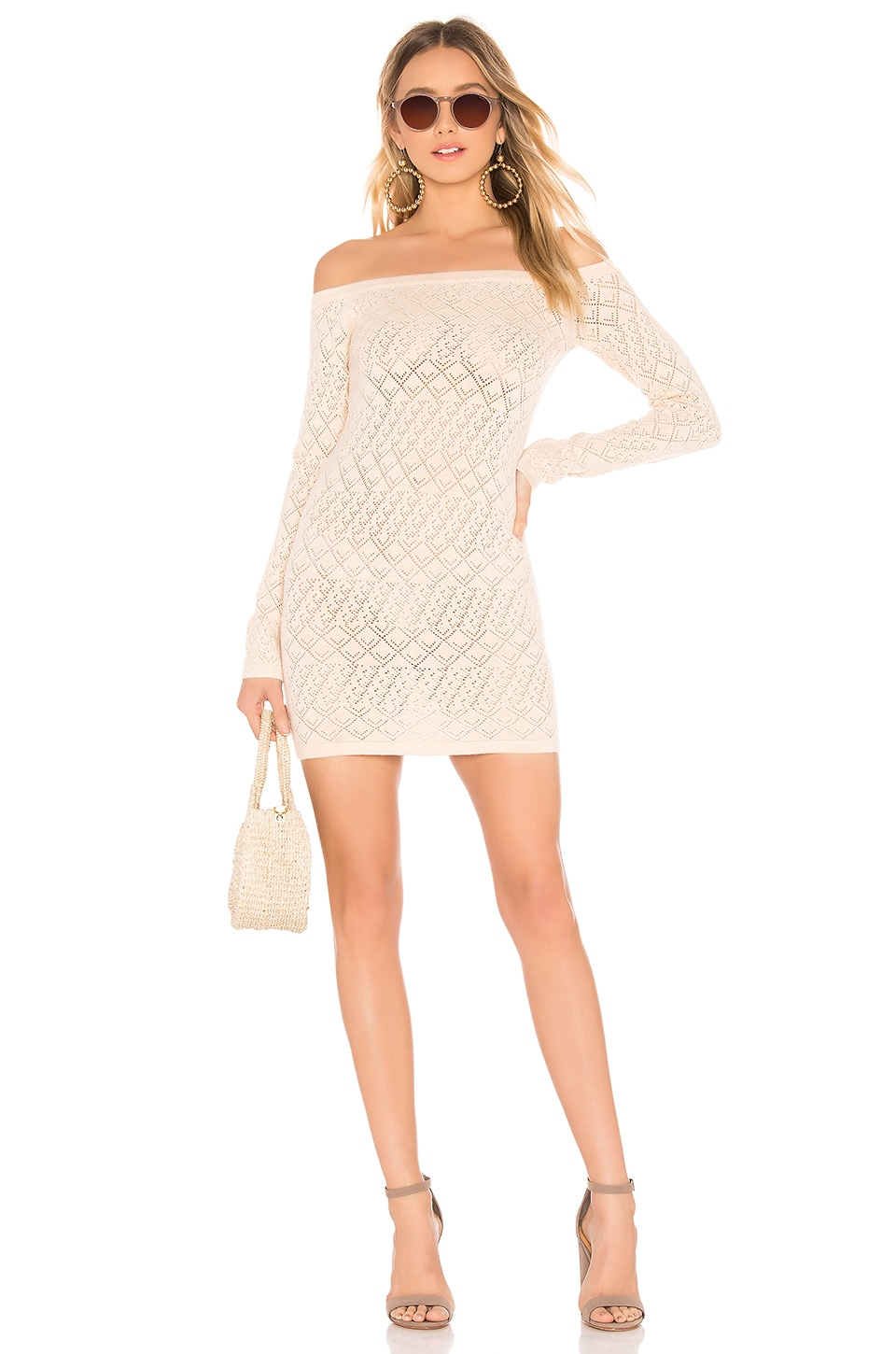 Lovers + Friends Date Night Sweater Dress in Beige