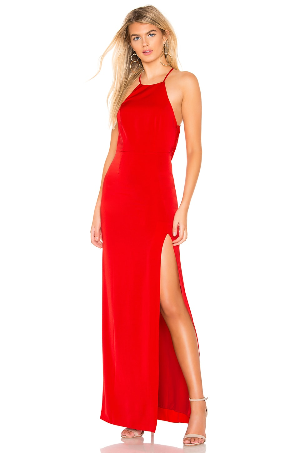 Lovers + Friends Sheyla Gown in Red