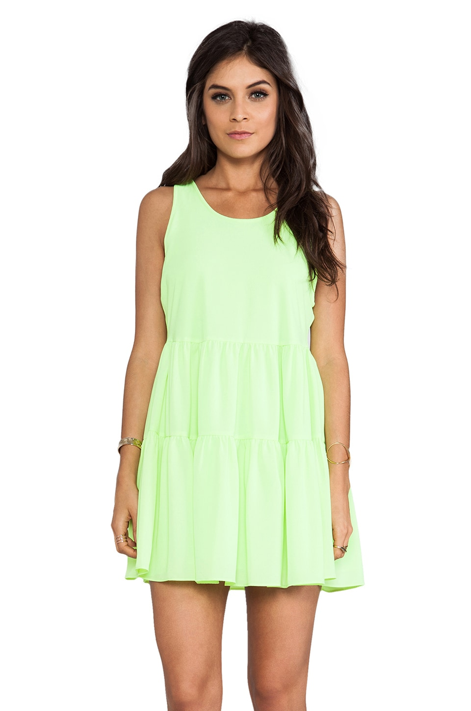 Lovers + Friends Angel Tank Dress in Lime
