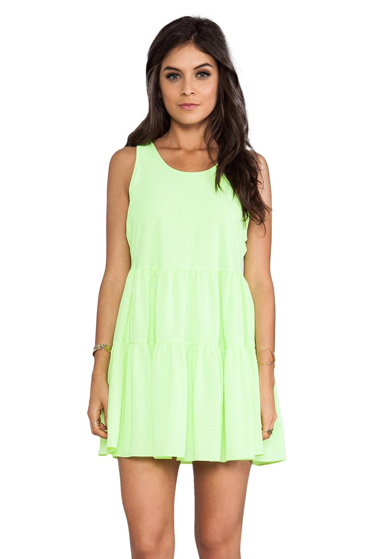 Lovers + Friends Angel Tank Dress in Lime