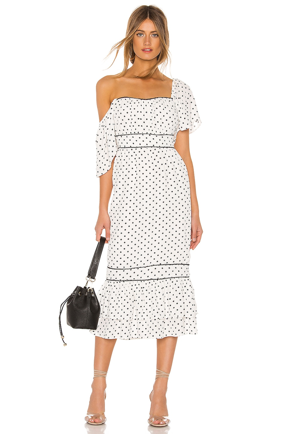 Lovers + Friends VESTIDO MIDI ALBA