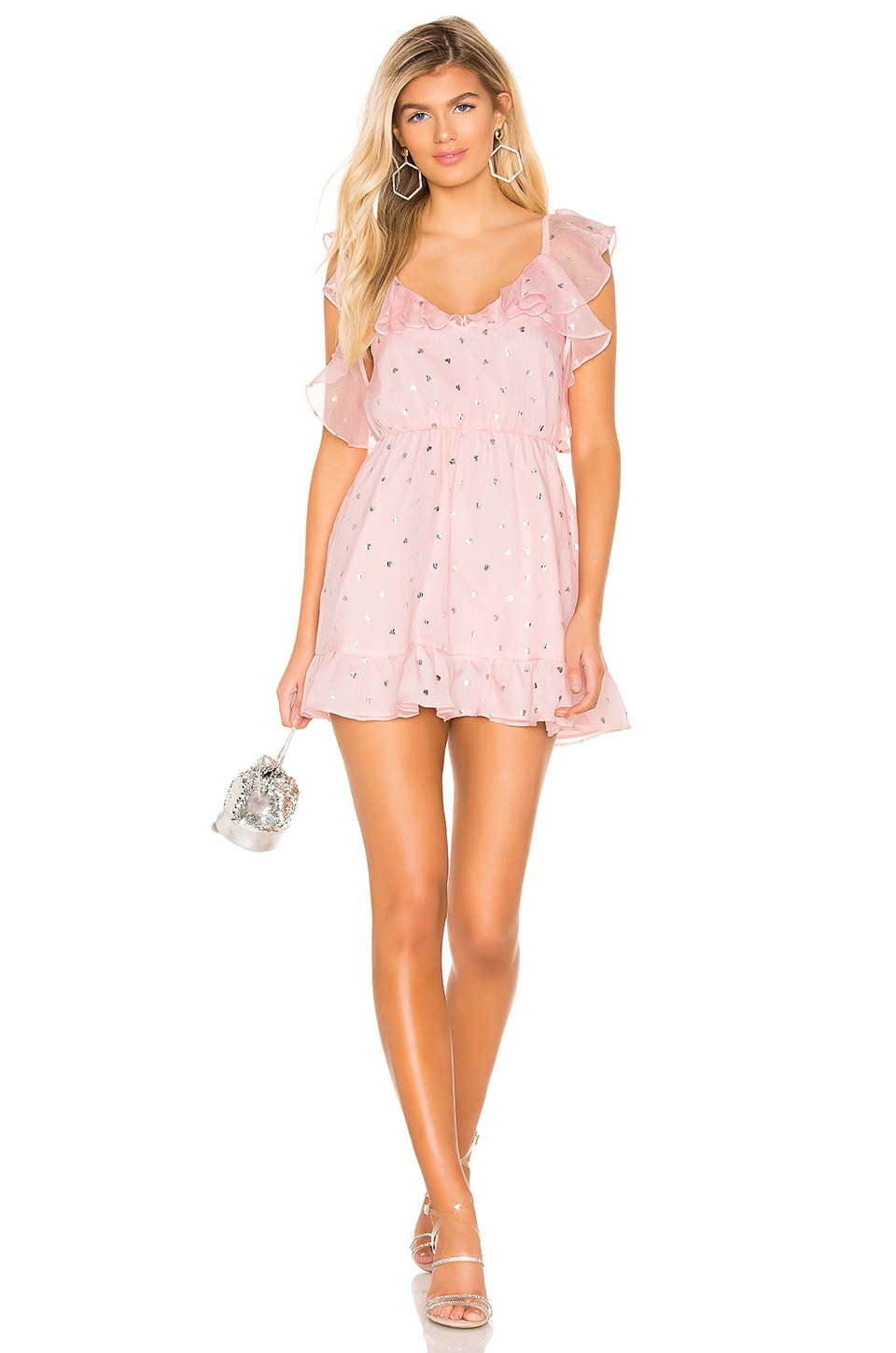 Lovers + Friends Austin Mini Dress in Powder Pink