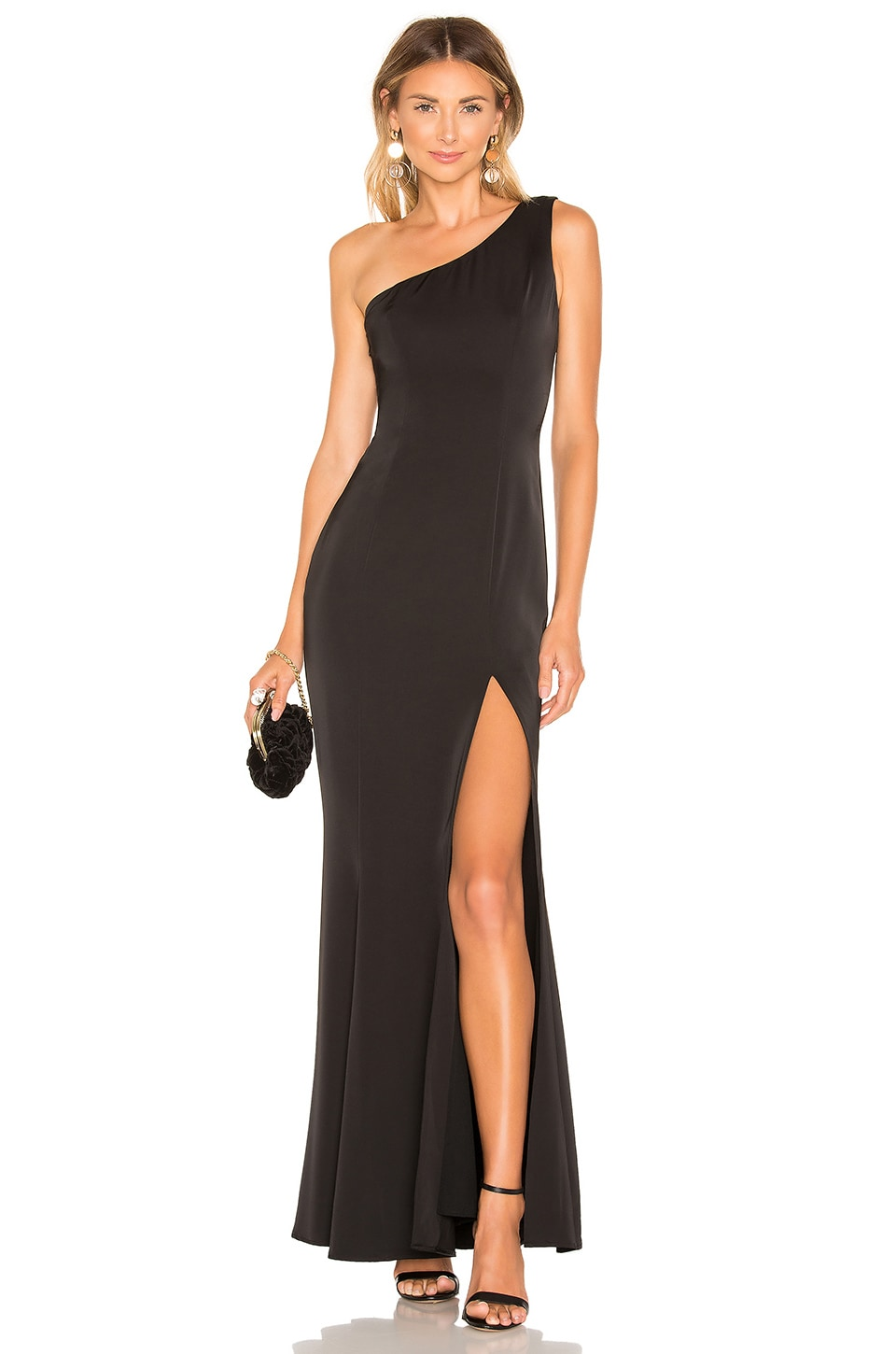 Lovers + Friends Lambella Gown in Black