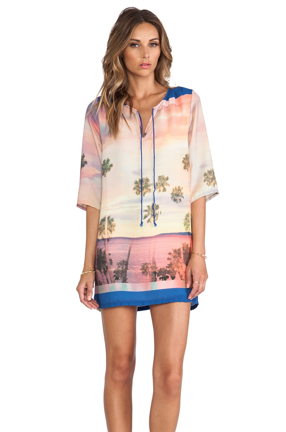 Lovers + Friends Ocean Tunic in Malibu Palm