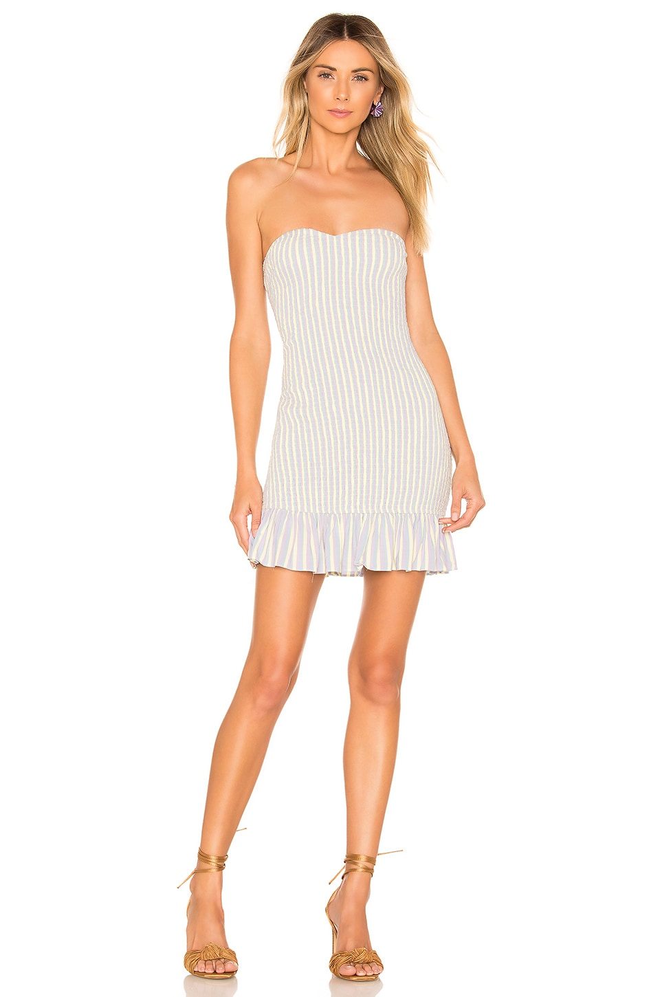 Lovers + Friends Piper Mini Dress in Springtime Lavender