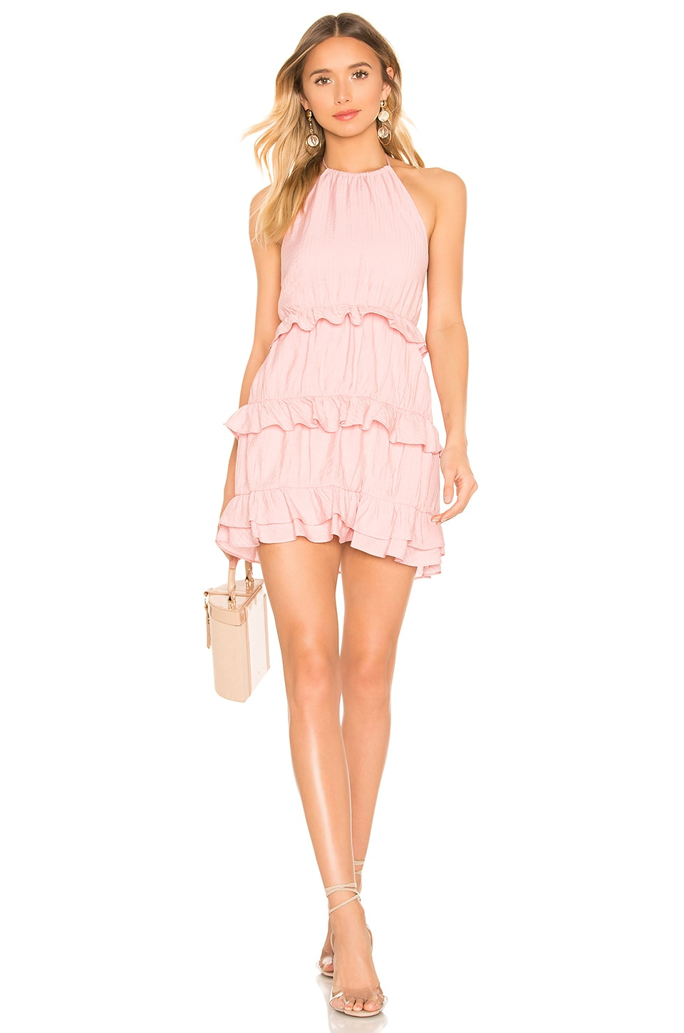 Lovers + Friends Maeve Mini Dress in Coral