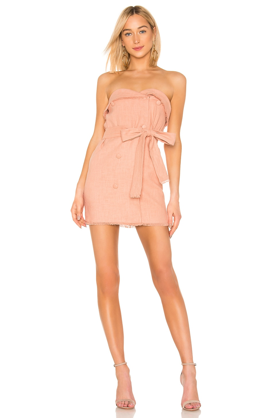 Lovers + Friends Nicole Mini Dress in Tan